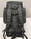 Тактический (туристический) рюкзак на 65 литров Black (ta65 чёрный), фото 8