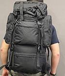Тактический (туристический) рюкзак на 65 литров Black (ta65 чёрный), фото 10