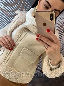 Женская укороченная куртка из искусственного дубляжа. Д-6-0119
