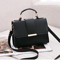 Небольшая женская сумка черная код 3-410