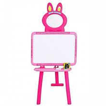 Мольберт 2 в 1 Доска знаний магнит азбука 0703 UK-ENG Розовый