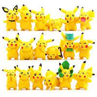 Комплект фигурок покемонов Пикачу из 6 шт, 5,5 см. Фигурки Пикачу Покемон