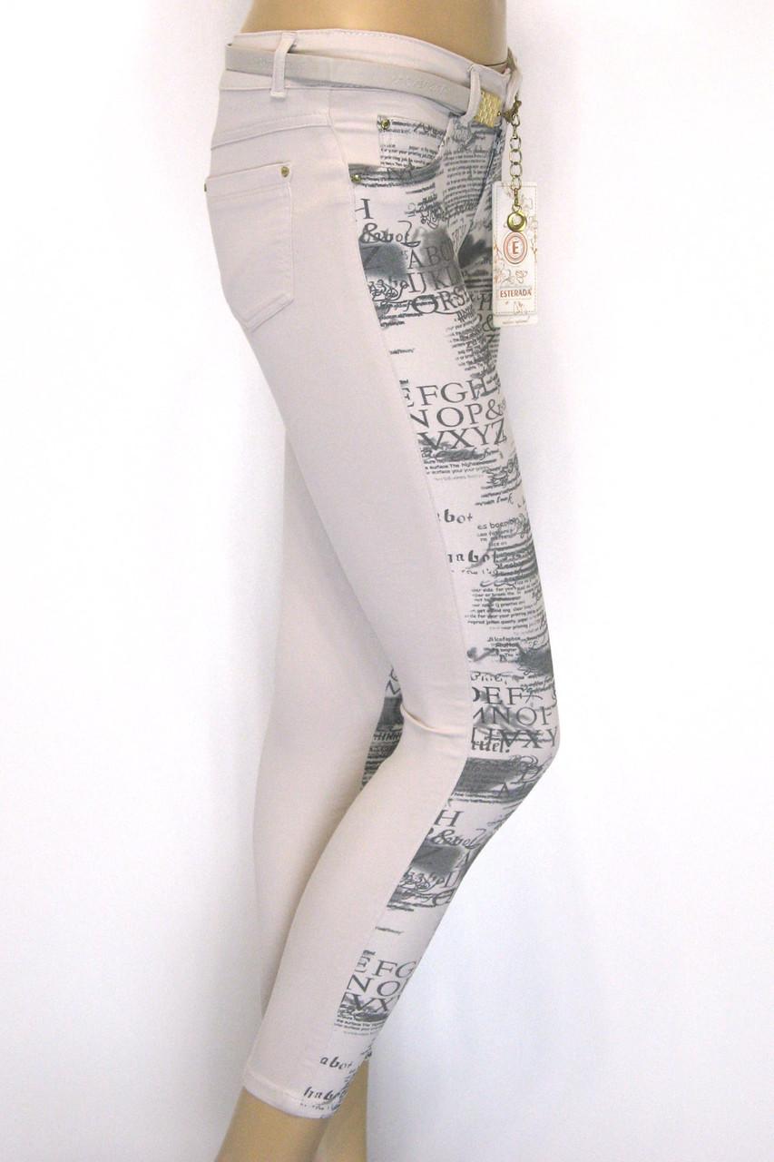 Літні жіночі штани бежеві з пониженою талією