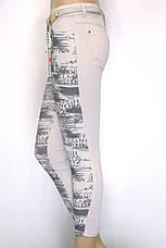 Літні жіночі штани бежеві з пониженою талією, фото 2