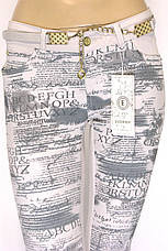 Літні жіночі штани бежеві з пониженою талією, фото 3