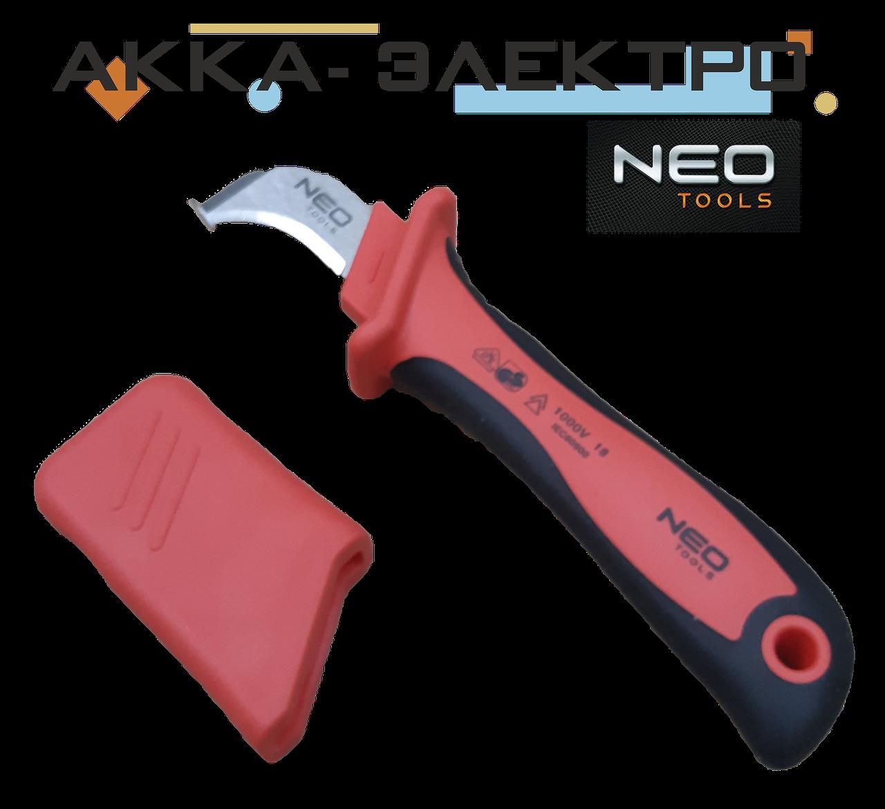 Ніж монтажний для зняття ізоляції з п'ятою NEO TOOLS (01-551)