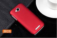 Чехол накладка бампер для Lenovo A706 бордовый