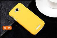 Чехол накладка бампер для Lenovo A706 желтый