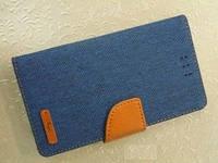 "Чохол-книжка  Flip Cover Canvas  4,5-4,8"" dark blue/brown  4you"