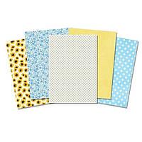 Набор дизайнерской бумаги А4 Желто-голубой, 10 листов