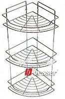 Полка 3-ярусная угловая 58*22*22см (хромированная сталь) Besser 0435E
