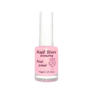 Лак для стемпинга Nail story № 17 нежно-розовый, 11мл.