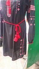 Платье вышиванка крестиком черное, фото 3