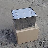 Коптильня горячего копчения из нержавеющей стали (400х310х280 мм)