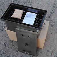 Коптильня горячего копчения 2-х ярусная (520х310х260 мм) с гидрозатвором 1мм.