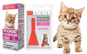 Средства от блох и клещей для кошек