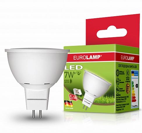 EUROLAMP LED Лампа ЕКО SMD MR16 7W GU5.3 3000K