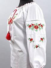 Женская вышиванка с цветами, фото 3