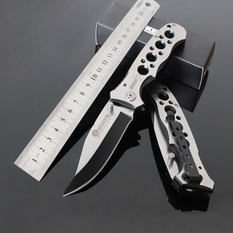 Нож складной Boker A083, клипса на пояс, отверстие для темляка, чехол в комплекте