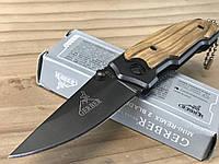 Нож складной Gerber X18, карманный нож, накладки на рукоятке дерево, складные ножи, фото 1