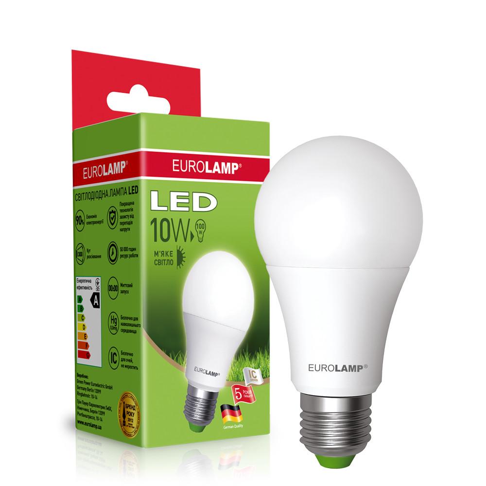 EUROLAMP LED Лампа ЕКО А60 10W E27 3000K