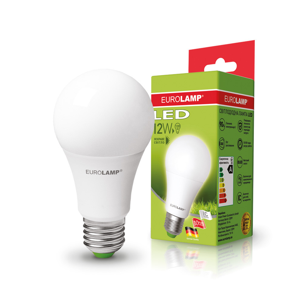EUROLAMP LED Лампа ЕКО А60 12W E27 4000K