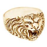 Кольцо мужское серебряное Лев КЦ-57, фото 2