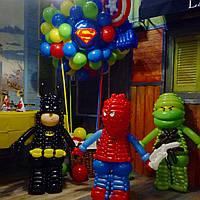 Фигурки супергероев Lego из шаров, высота ок.1м, фото 1