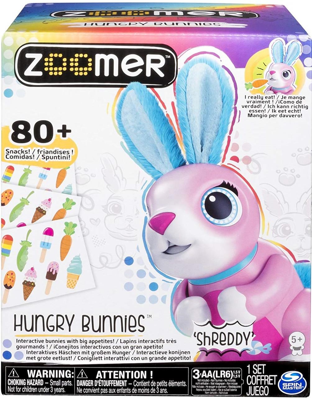 Интерактивный кролик, кушает, Hungry Bunnies Robotic Rabbit, Spin Master, Zoomer из США