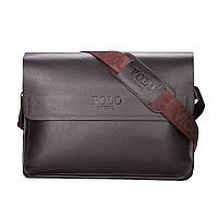 Повседневная деловая мужская сумка Черный, коричневый, фото 3
