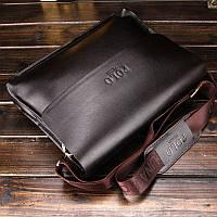 Повседневная деловая мужская сумка Черный, коричневый, фото 5