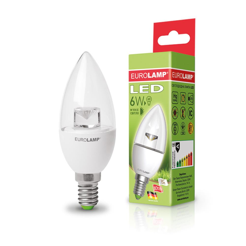EUROLAMP LED Лампа ЕКО Candle on Wind 6W E14 3000K