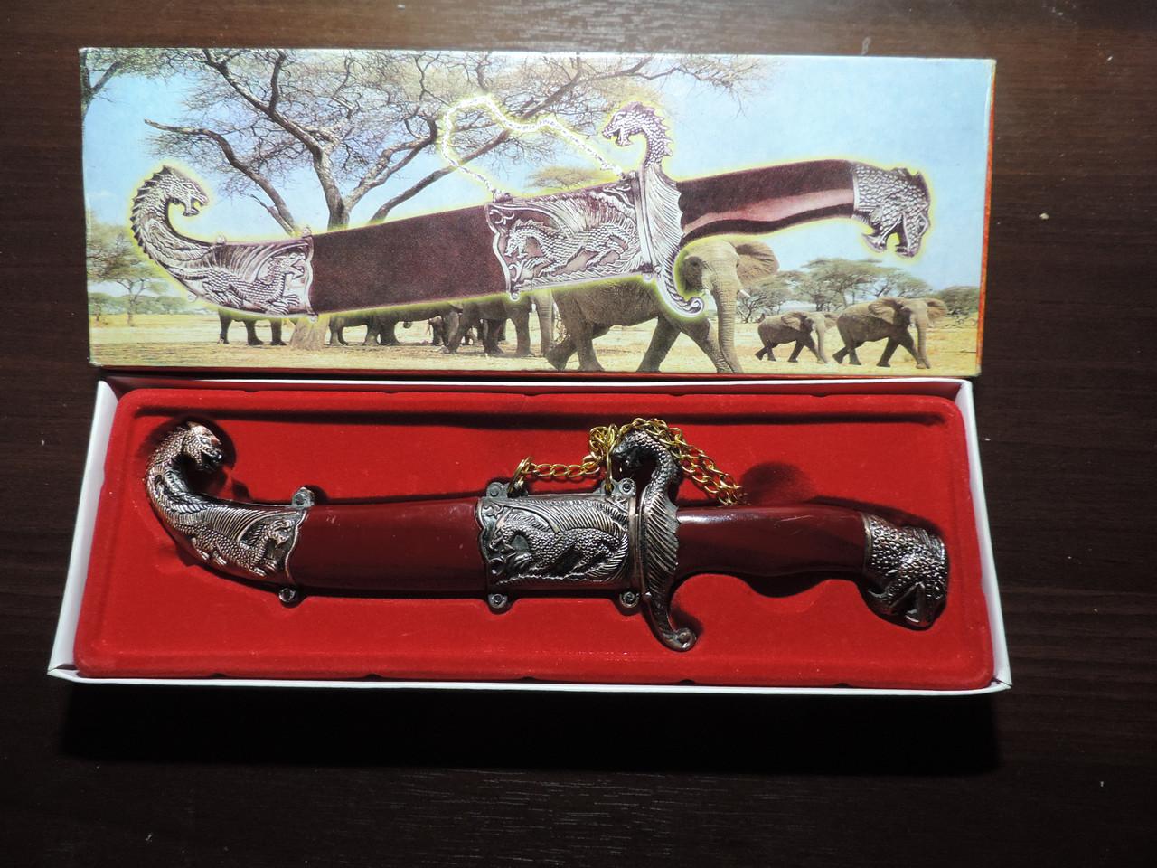 """Сувенирный нож """"ДРАКОН"""" - талисман на удачу в бизнесе и жизни."""