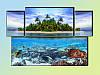 "Модульная картина ""Caribbean Aqua"""