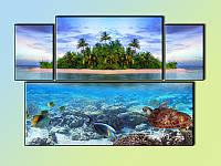"""Модульная картина """"Caribbean Aqua"""", фото 1"""