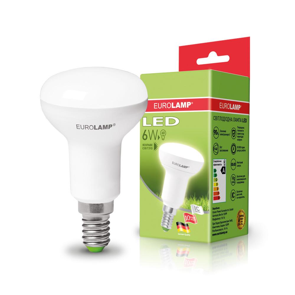 EUROLAMP LED Лампа ЕКО R50 6W E14 4000K