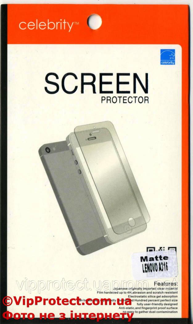 Lenovo A316, матовая защитная пленка на телефон