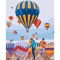 """Картины по номерам на холсте с воздушными шарами """"Воздушные мечты"""" KHO4503"""
