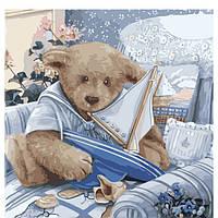 Картины по номерам на холсте, Плюшевый мишка KHO2311
