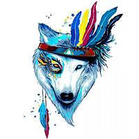 Картина по номерам на холсте Белый волк KHO4019