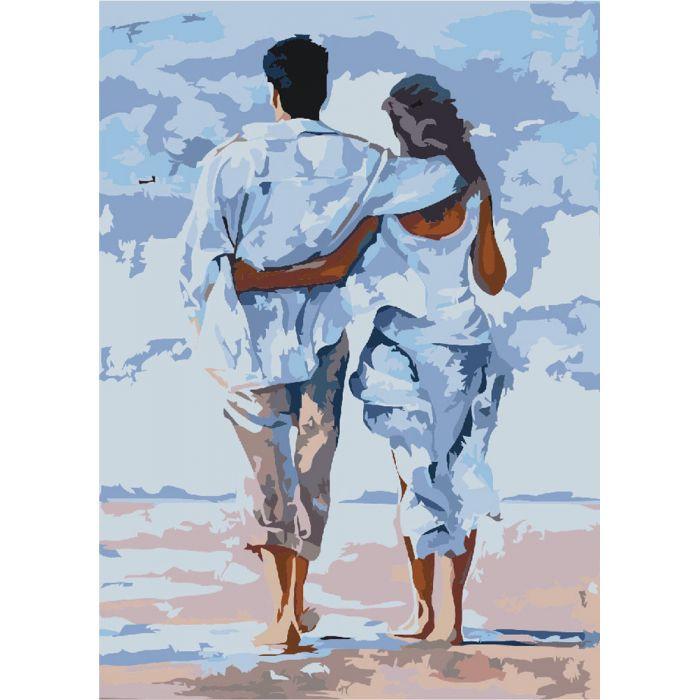 Картины по номерам, картины по номерам на холсте Влюбленные KHO2643