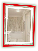 Зеркало для ванной комнаты с LED подсветкой. 700х900мм. СД-6, фото 1