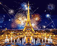 Картина по Номерам 40x50 см. Салют в Париже