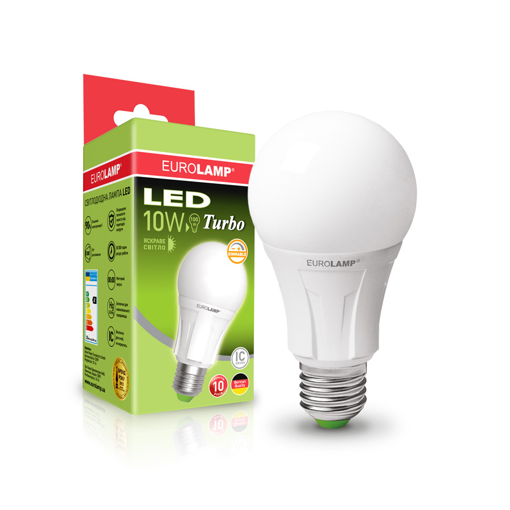 EUROLAMP LED Лампа TURBO NEW dimmable A60 10W E27 4000K