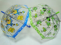 Прозрачный детский зонт куполом Акула, Пираты, жабки, фото 1