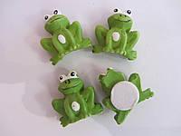 Лягушки из гипса (липучки), 2х1,5 см, 4 шт, (10)