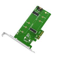 Контроллер Maiwo Multi-Size PCIex4 & SATA to M.2 (M-Key or B-key) SSD with full profile bracket