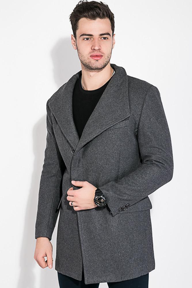 Пальто Мужское Классическое AG-0008494 Серый — в Категории