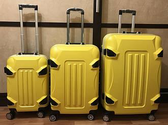 Новые чемоданы (валiзи/валiза) на колесах  из ABS пластика с алюминиевым каркасом