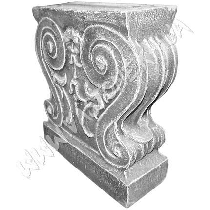 """Форма для скамейки из бетона """"Барокко"""" стеклопластиковая , фото 2"""